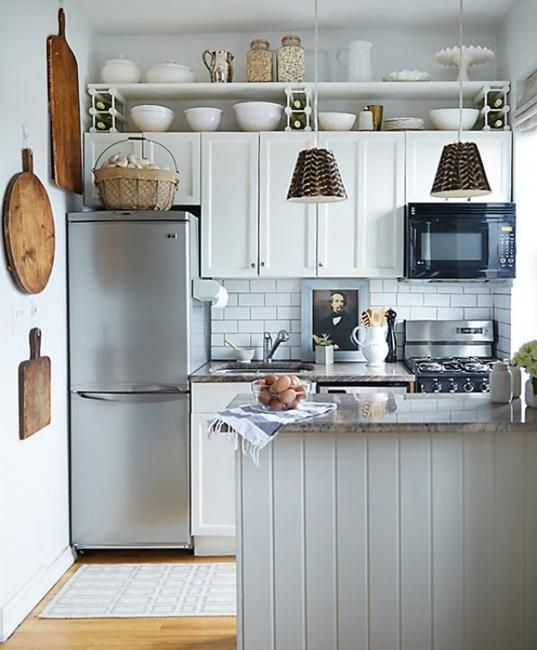 25 Space Saving Small Kitchens and Color Design Ideas for Small .