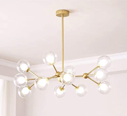 Dellemade XD00940 Sputnik Chandelier for Bedroom, Globe Ceiling .