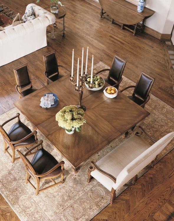 Square table for eight Century Classics Square-To-Square Dining .