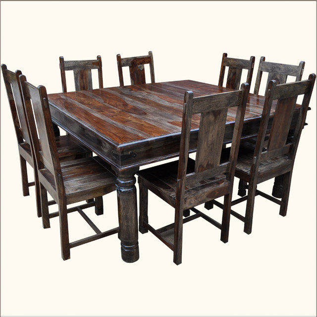 Square dining table seats 8 - Video and Photos | Madlonsbigbear.c