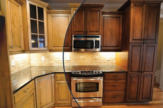 Oak Kitchen Cabinet Stain Colors : Popular Kitchen Cabinet Stain .