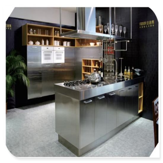 China Modern Design Luxury Stainless Steel Kitchen Cabinet - China .