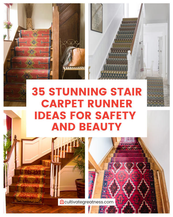 35 Stunning Stair Carpet Runner Ideas for Safety and Beau