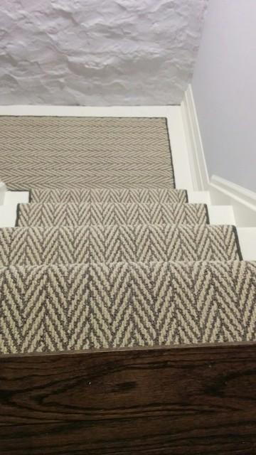 Herringbone Design Stair Carpet Runner - Modern - Staircase .