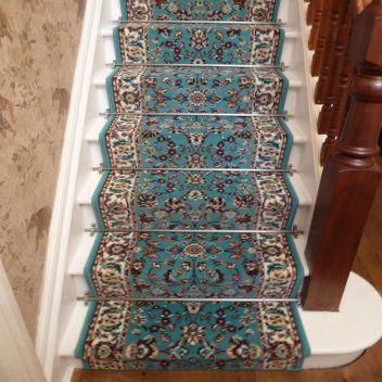 Light Blue Stair Carpet Runner - Persian - Carpet Runners UK .