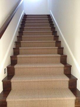 carpet runner on hardwood stairs - Google Search | Hardwood stairs .