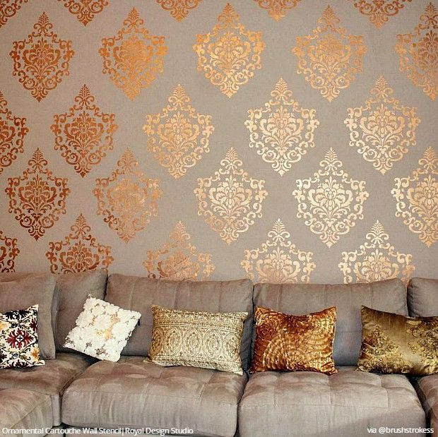 Decorate with Stencils for an Insta-Inspiring Home | Diy wall .