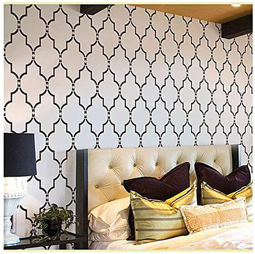 Amazon.com: Wall Stencil Marrakech Trellis - Large Stencils for .