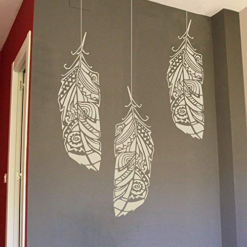 Amazon.com: Feather Large Wall Stencil for Painting - Sizes L/M/S .