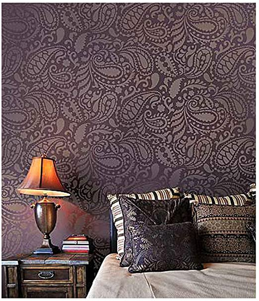 Amazon.com: Paisley Allover Wall Stencil – Wall Painting Stencils .