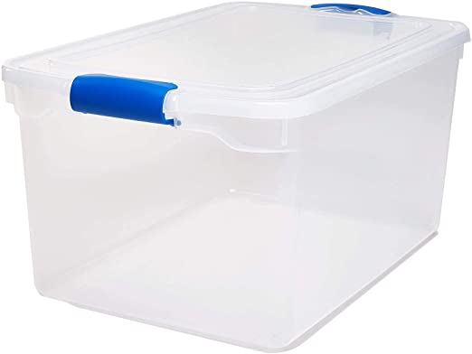 Amazon.com: Homz Plastic Storage, Modular Stackable Storage Bins .