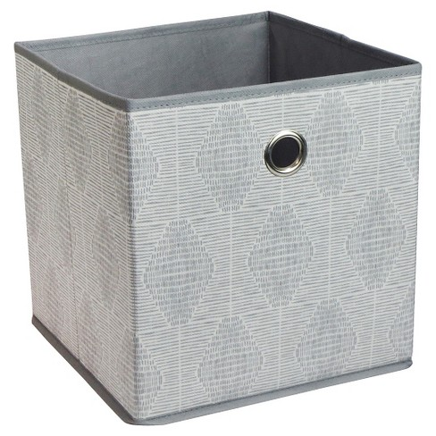 "Fabric Cube Storage Bin Gray Pattern 11"" - Room Essentials™ : Targ"