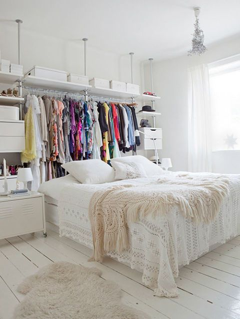 14 Small Bedroom Storage Ideas - How to Organize a Bedroom With No .