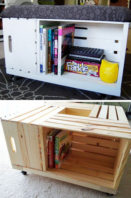 Diy Storage Ottoman Click Pic Clever Space Saving Ideas Small .