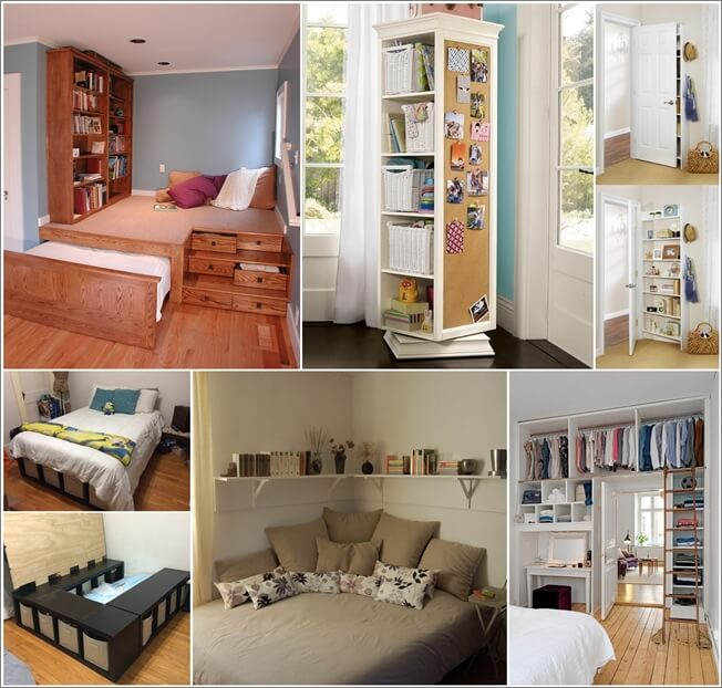 15 Clever Storage Ideas for a Small Bedro