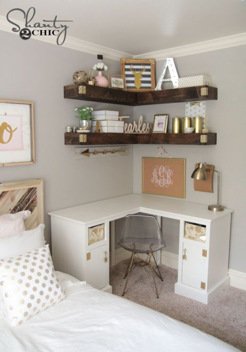 10 Brilliant Storage Tricks for a Small Bedroom | Room decor .