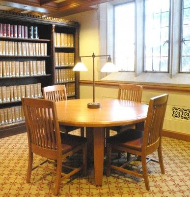 Round group study tables (Arlington Study Table from Jasper .