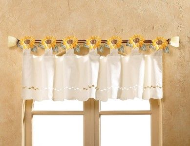Sunflower Curtains and Valance | ... about Bright Detailed Country .