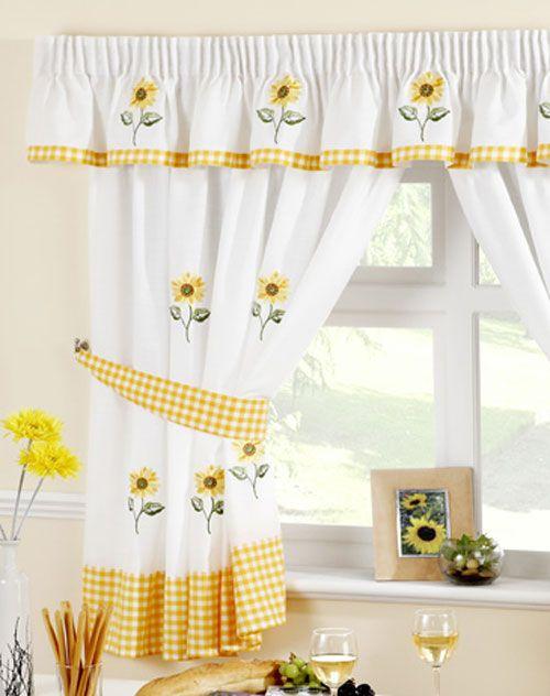 Sunflower Kitchen Curtain | Kitchen curtains, Curtains uk .