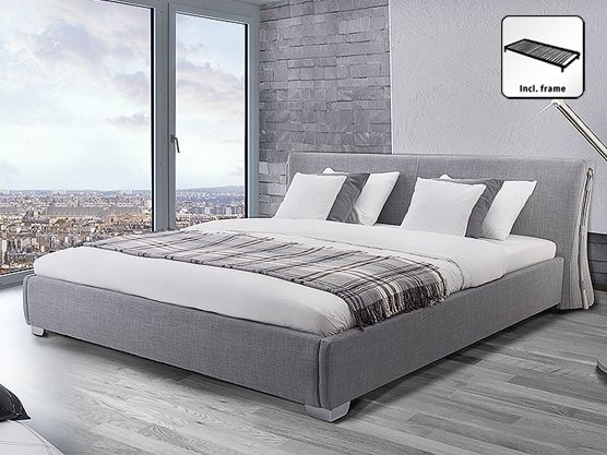 Fabric EU Super King Size Bed Grey PARIS | Super king size bed .