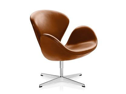 Fritz Hansen Swan Chair, Special height 48 cm, Leather Grace .