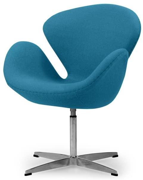 Amazon.com: Kardiel Swan Chair,Caribbean Boucle Cashmere Wool .