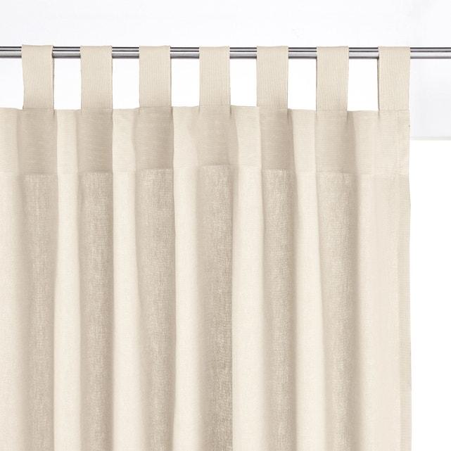 Scenario cotton tab top single curtain La Redoute Interieurs | La .