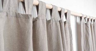 Amazon.com: Tab Top Linen Curtain Panel/NATURAL LINEN COLOR/homey .