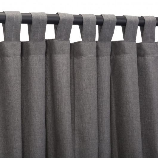 Sunbrella Outdoor Curtain Panel with Tab Top - Cast Slate – Patio