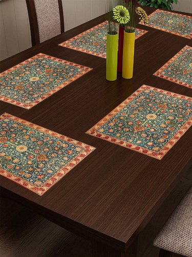 Stitchnest Cotton Canvas Printed Indian Ethnic Table Mats at Rs .