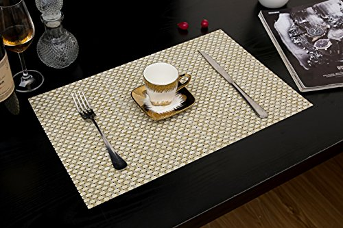Tennove Placemats for Kitchen Table Washable Table Mats Woven .