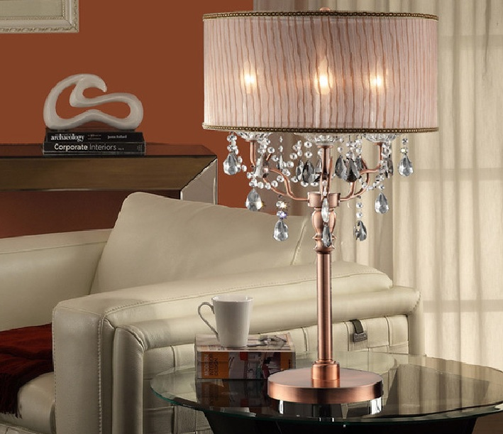 Tall table lamps for living room – tall crystal table lamps .