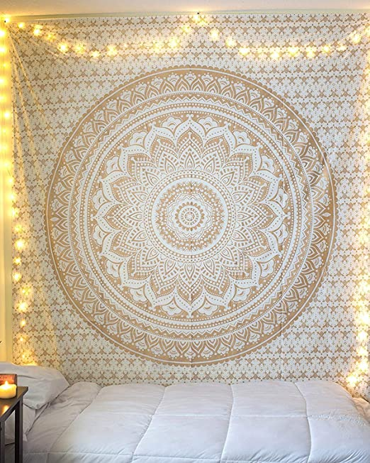 Amazon.com: Indian Hippie Mandala Tapestry Wall Hanging .