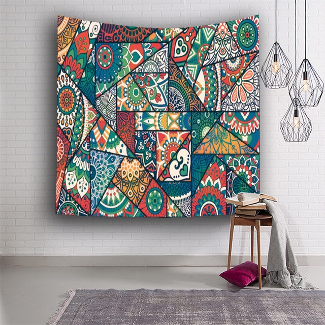 Indian Tapestry Wall Hanging Printed Decorationon Digital Print .