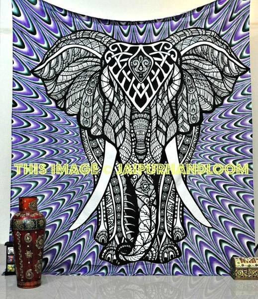 dorm room elephant tapestries hippie psychedelic tapestry wall hangi