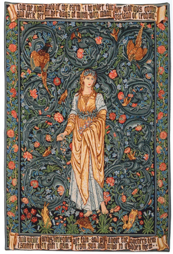 William Morris Tapestry Wall Hanging Flora Wall Hanging | Et