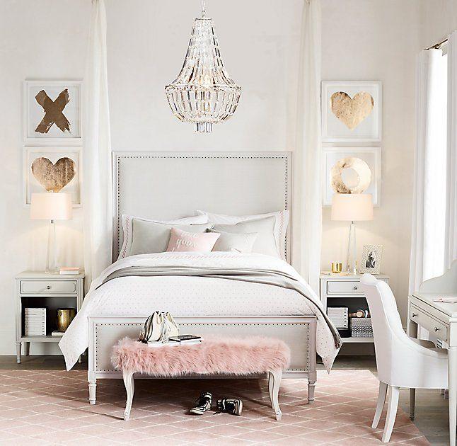 Teenage Bedroom Inspiration | Home bedroom, Gold bedroom, Feminine .