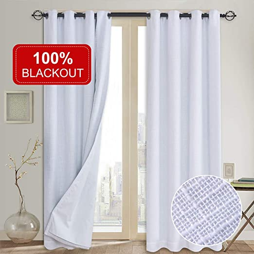 Amazon.com: 100% Blackout Curtains(with Liner),Primitive Linen .