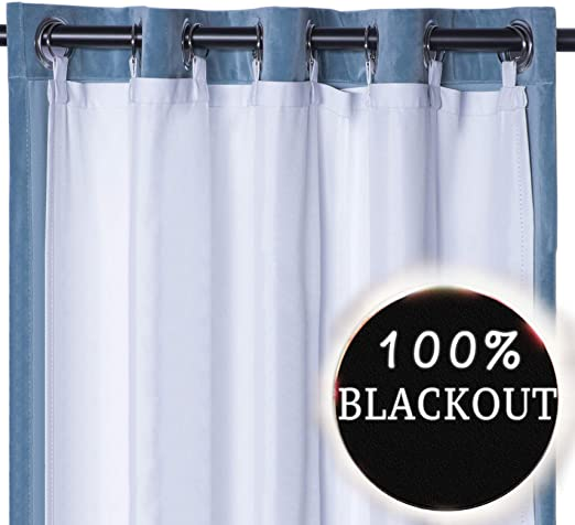 Amazon.com: Rose Home Fashion Thermal Insulated Blackout Curtain .