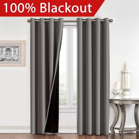 100% Blackout Curtain Set, Thermal Insulated & Energy Efficiency .