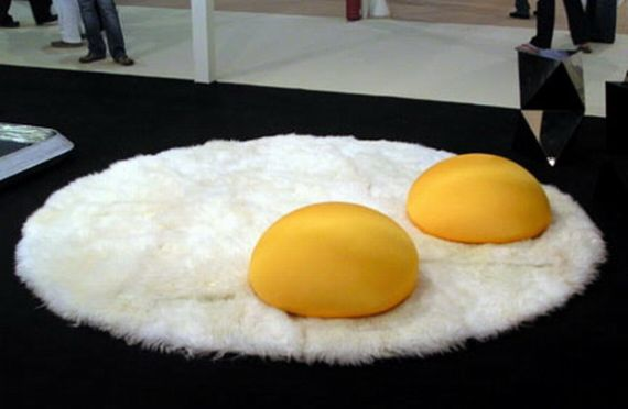 I Prefer My Throw Rugs Sunny Side Up | Incredible Thin