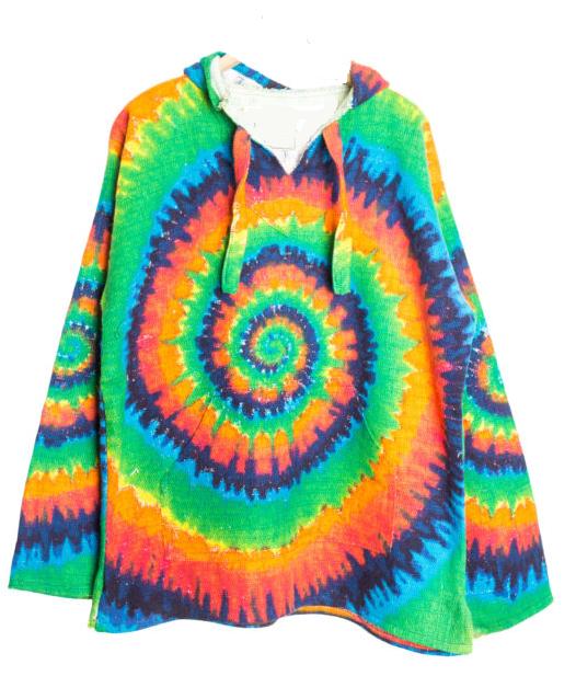 Tie Dye Baja Hoodie Drug Rug – Mexican Threa