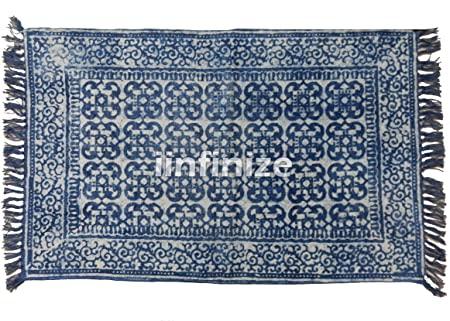 Amazon.com : Vintage Kilim Floral Design Tie Dye Shibori Indigo .