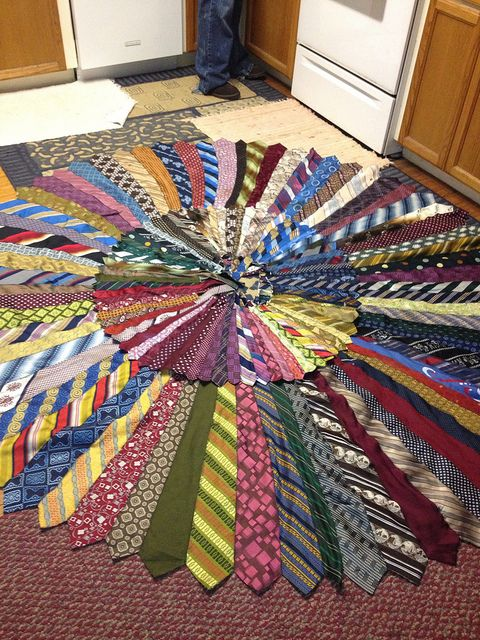 Necktie Rug | Tie crafts, Necktie quilt, Craf