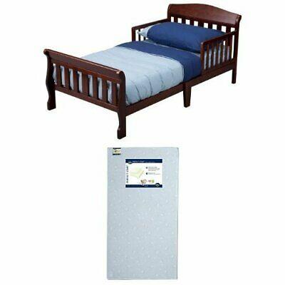 Toddler Bed With Mattress Set Safety Rails Children Kids Girls .