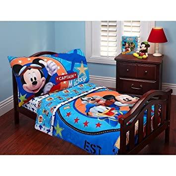 Amazon.com : Disney Baby Mickey Mouse Toddler Bed Set : Ba