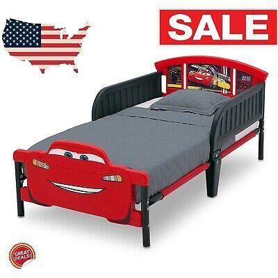 Toddler Bed Frame With No Mattress Girls Boy Race Car Kids Bedroom .