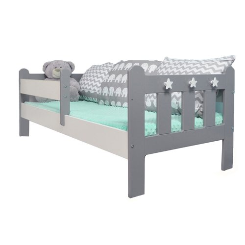 Ashly Convertible Toddler Bed with Mattress HoneyBee Nursery .