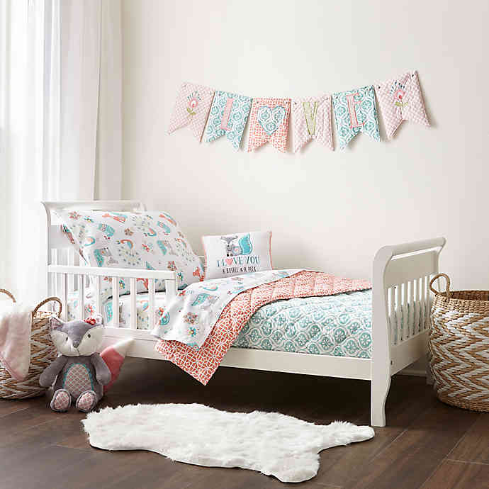 Levtex Baby® Fiona 5-Piece Toddler Bedding Set in Coral | Bed Bath .
