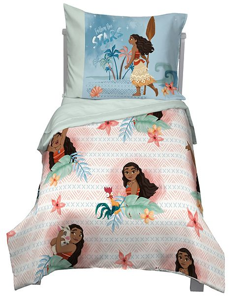 Disney Moana 4-Piece Toddler Bedding Set & Reviews - Bedding .